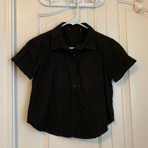 Brandy Melville Black Button-Up Shirt